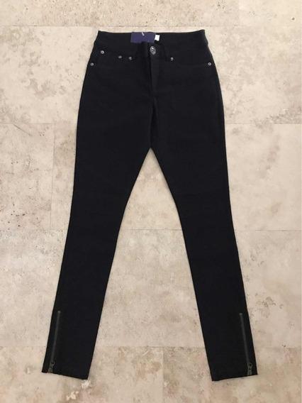 Efekto Moda Pantalón Lob Negro Stretch Skinny Talla 1 - 24