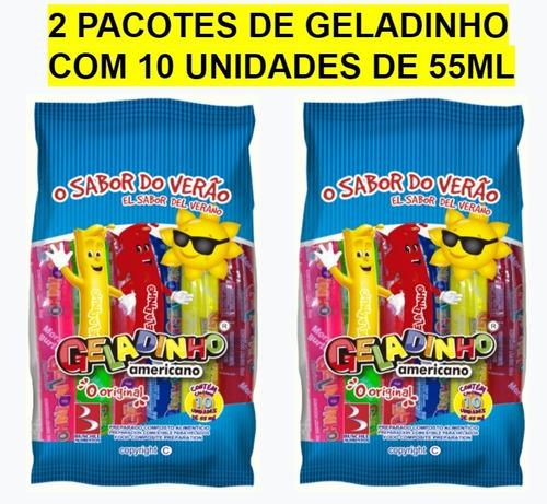Kit C/2 Pcts De Geladinho Americano Buschle - 10 Unids X55ml
