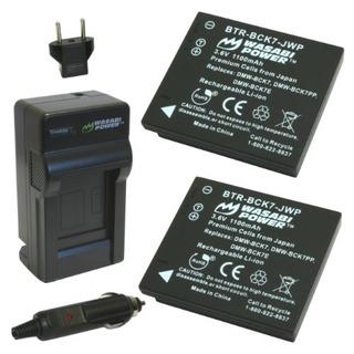 Wasabi Power Battery 2pack Y Cargador Para Panasonic Dmwbck7