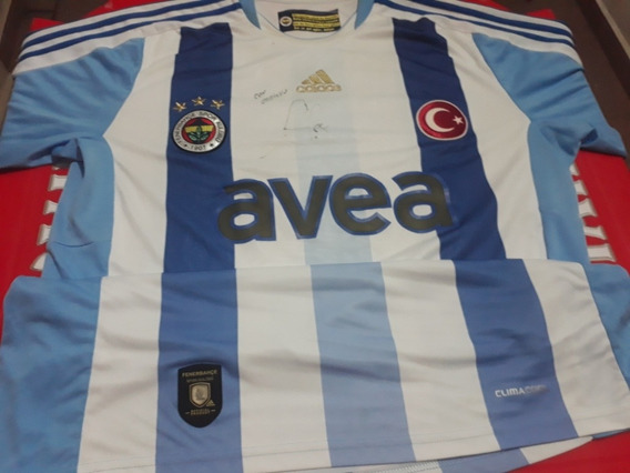 Camisa Do Fenerbahçe Autografada Pelo Alex