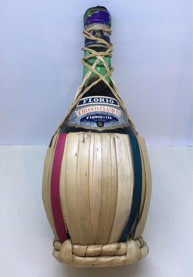 Antigua Botella Vino Chianti Florio
