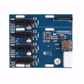 Multiplicador Ver02 X4 Pci-e Riser Rig Mineração Btc, Ether