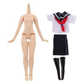 d9f87a0172 Cuerpo Desnudo Natural Ropa Linda De Escuela Para 1/6 Doll