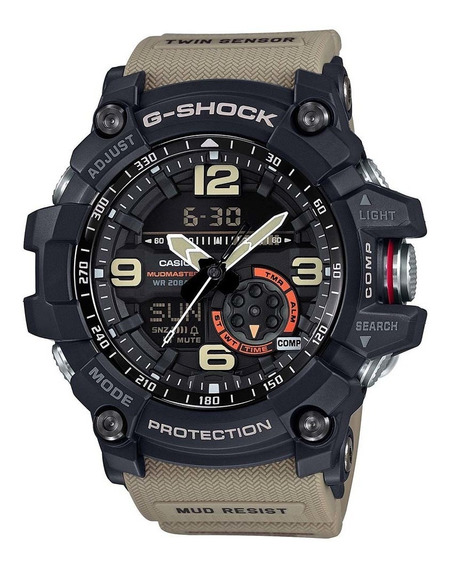 Relógio Casio G- Shock Mudmaster Anadigi Gg-1000-1a5dr