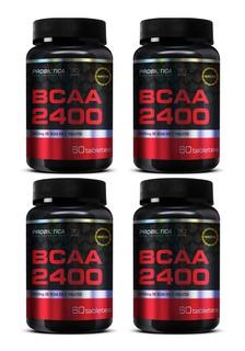 4x Bcaa 2400mg 60 Tabs - Probiótica