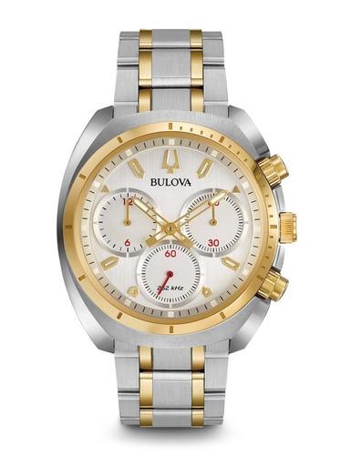 Relógio Bulova Curv Masculino Wb31952s 98a157 Misto Aço