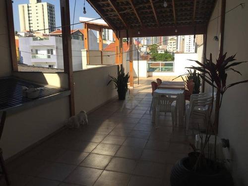 Cobertura Com 2 Dormitórios À Venda, 156 M² Por R$ 545.000 - Vila Valparaíso - Santo André/sp - Co0360