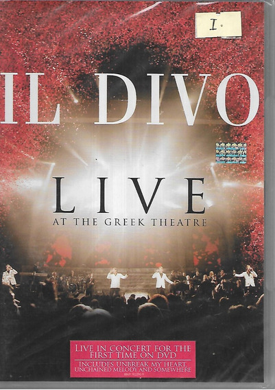 Il Divo Album Live At The Greek Theatre Dvd Syco Music Nuevo