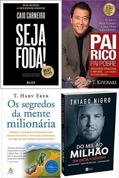 Seja Foda Black Edition + Pai Rico Pai Pobre + 2 Livros