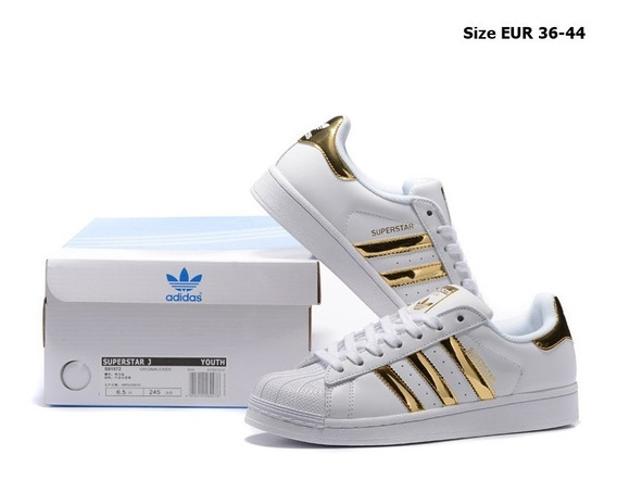 Zapatillas adidas Superstar J Gold - Hermosas