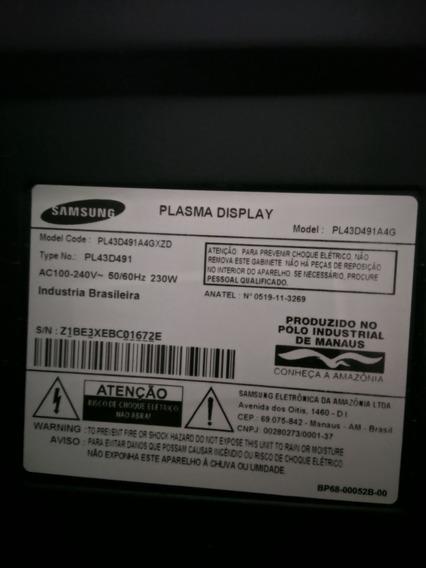 Tv Plasma 43 3d Tela Quebrada Samsung