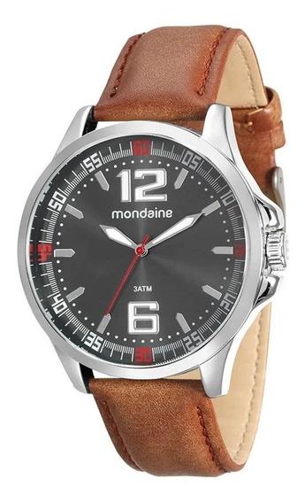 Relógio Masculino Casual Mondaine Couro Mondaine Original+nf