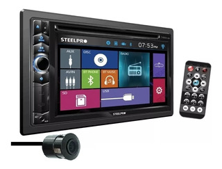 Autoestereo Pantalla Steelpro Carbon-684 Bluetooth Usb Dvd