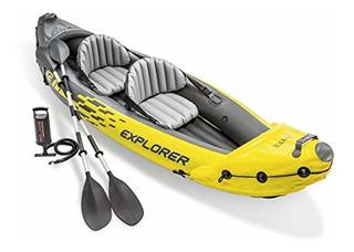 Intex Explorer K2 Kayak, Set De Kayak Inflable Para 2 Person