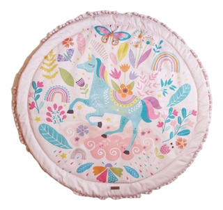 Playmat Manta Acolchonada Alfombra Bebes Unicornio 105cm