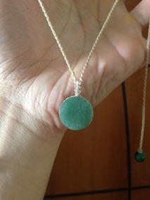 Colar Regulável Hippie Com Pedra Quartzo Verde