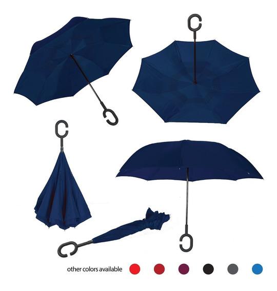 Promoción Paraguas Invertido, Doble Capa, Manos Libres.