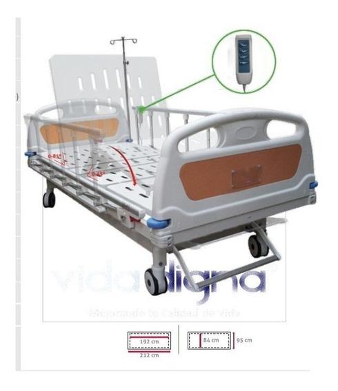 Cama Hospitalaria Eléctrica 3 Motores Colchón Y Envío Gratis