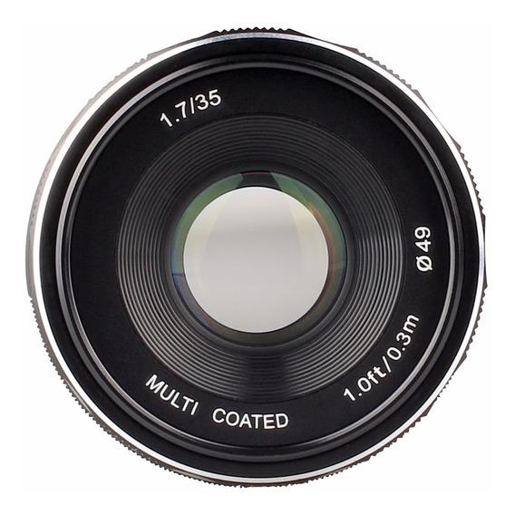 Lente Meike 35mm F1.7 Aps-c Para Canon Ef-m