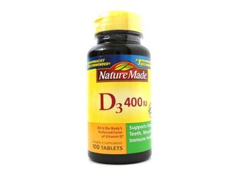 Vitamina D3 400iu Nature Made 100 Tablets Entrega Rápida