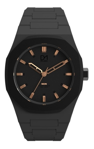 Reloj Ultra Ligero Neon Gray Black Rose Gold D1milano