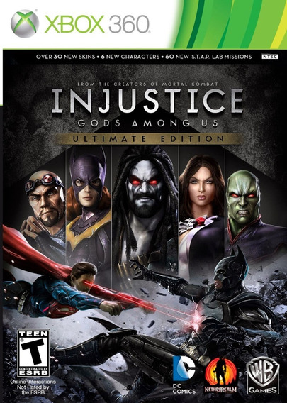 Injustice Gods Among Us - Xbox360 Funciona Bloqueado Tambem
