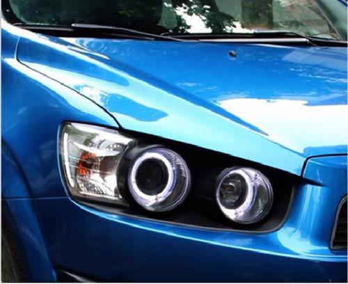 Chevrolet Sonic Faros Ojos De Angel Delanteros