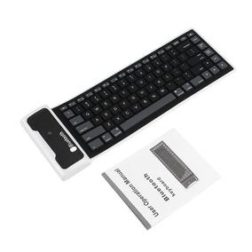 Novo Silicone Flexível Sem Fio Bluetooth Mini Teclado Para