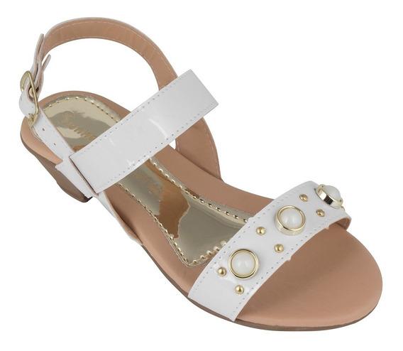 Sandalia Feminina Infantil Vvx Sapato Com Salto Menina
