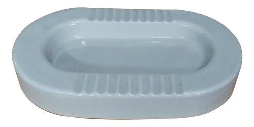 Imagen 1 de 4 de Cenicero Ovalado De Porcelana Grande