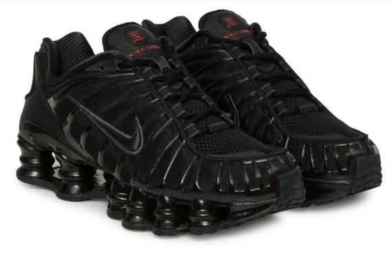 Tênis Nike Shox Tl 12 Molas Preto Parcele Em 12x Sem Juros