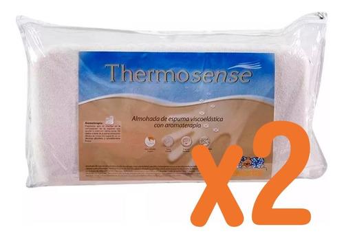 Imagen 1 de 6 de X2 Almohadas Suavestar Thermosense Viscoelastica