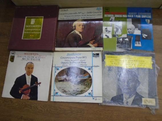 Lote X 12 Discos Vinilo 9 Sinfonias Beethoven , Etc , ,