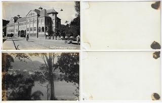 Sc Anos 1940 2x Fotopostal Prefeitura Blumenau Rio Itajaí