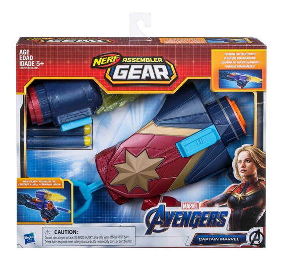 Nerf Montador De Engrenagem Capitã Marvel 2.0 Hasbro E3355