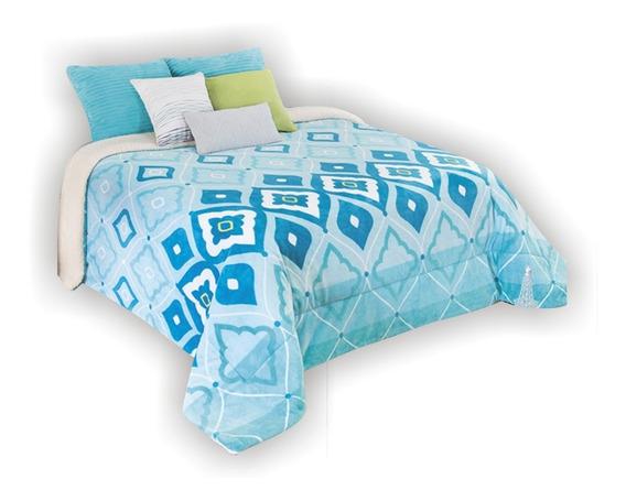 Pack 5 Cobertor Borrega Matrimonial Real Textil Esquimal