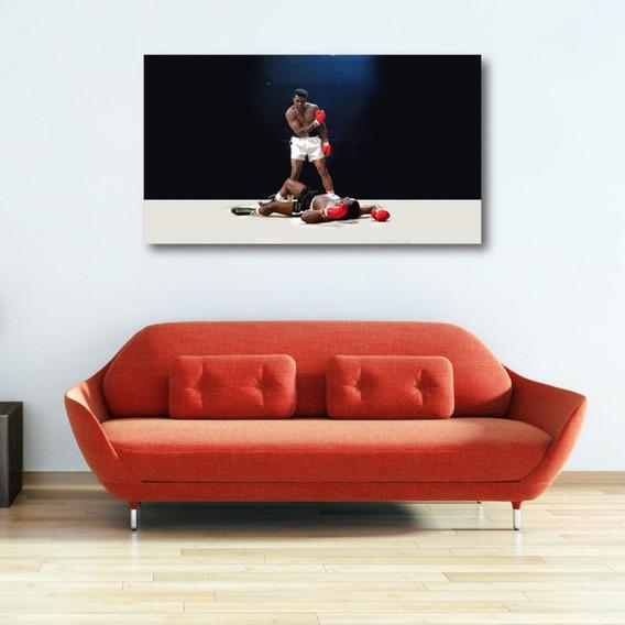 tama/ño grande A1 Cuadro enmarcado de Muhammad Ali Knock Out en lienzo 50 x 76 cm