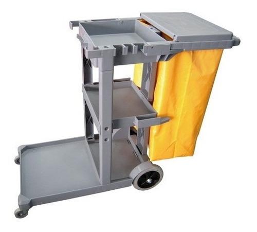 Imagen 1 de 5 de Carro Limpieza Porta Elementos Funcional Janitor - Equilimp