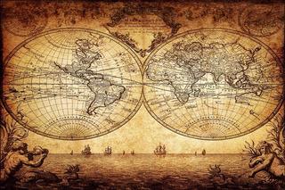 Mapa Mundi Antigo 60x90cm Decoração Retrô Para Fazer Quadro
