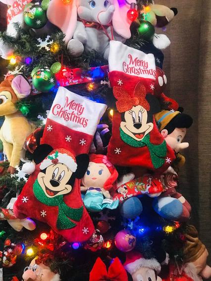 Botas Navideñas De Mickey Y Minnie Mouse Hermosas Or