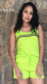 1 Conjunto Regata + Short Verde Limão | Varda Clothing