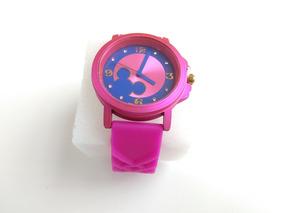 Relógio Feminino Mcky Quartz Pulseira Borracha Casual Lindo