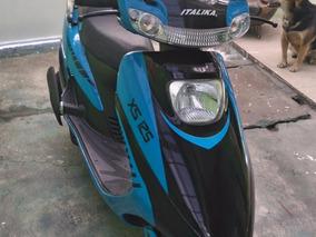 Motoneta Italika Xs125 Azul 2016 Seminueva Excelente Estado