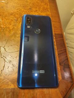 Celular Motorola One Visión Azul Zafiro. Casi Sin Uso