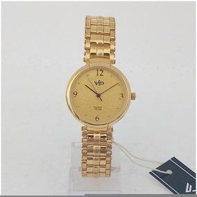 Relógio Feminino Dourado Vip Mm277 Original 12x Sem Juros