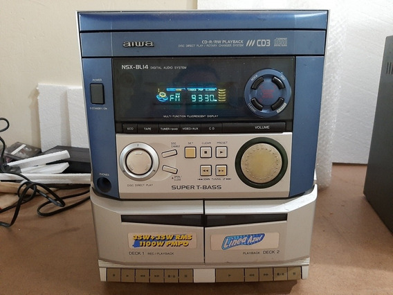 Aiwa Nsx-bl14 - 3cd Systen Para Conserto +01 Brinde Cce 222