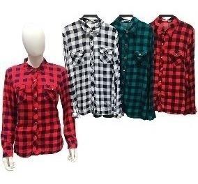 Camisa Xadrez Blusa Feminina Promoção Atacado Baratas Moda