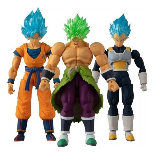 Figura Muñeco Anime Dragon Ball Goku Vegeta Broly Bandai Set