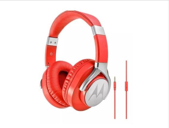 Fone De Ouvido Motorola Pulse Max Com Microfone Vermelho