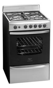 Cocina A Gas Longvie 18501xf 56cm Inox Encendido Una Mano